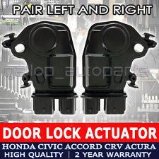 FOR HONDA CRV ACCORD ODYSSEY INTEGRA DOOR LOCK ACTUATOR FRONT LEFT & RIGHT PAIR