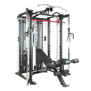 Inspire Fitness SCS Smith Cage System Power Rack Functional Trainer Gym Package