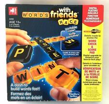 """New """"WORDS WITH FRIENDS RACE"""" PORTABLE TRAVEL GAME 13+ 2 OR 4 PLAYERS HASBRO"""