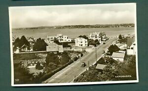 DORSET,SANDBANKS, AERIAL VIEW,vintage postcard