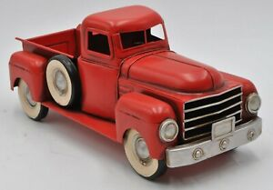 Handmade vintage metal Red truck model with Spare Tire for home decoration