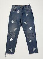 Stars jeans zara donna usato destroyed custom W28 tg 42 denim boyfriend T4140