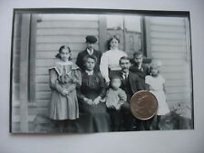 Antique Glass Negative Photo Family portrait gathering early 1900s