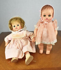 "Two Vintage Vinyl 13"" Horsman Sleepy Eye Baby Dolls"