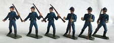 Vintage STARLUX 1970's, ACW Federals x 6 in dark blue. 65mm scale plastic.