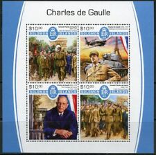 SOLOMON ISLANDS 2017  CHARLES DeGAULLE  SHEET  MINT NH
