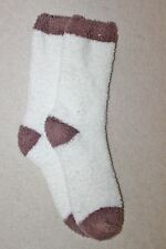 White and Brown Fluffy Socks NEW!