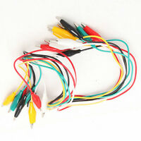 10pcs Double-ended Test Leads Alligator Crocodile Roach Clip Jumper Wire JB