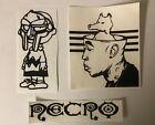 MF Doom Charlie Brown Freddie Gibbs Quasimoto Necro Hip Hop Vinyl Sticker Set