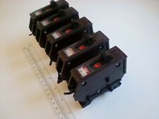 Five Wadsworth Type A 15-Amp 1-Pole 15A Circuit Breaker Metal Tab