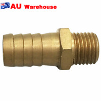 1 Pcs Brass 9/16 Barb M14X1.5 Male Hose Fitting Water Oil Gas Air Fuel 14mm