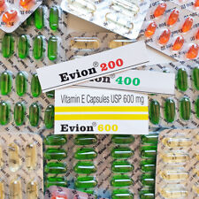 Vitamin E - Evion Capsules for Glowing Face Strong Hair Nails Glow Acne Wrinkles