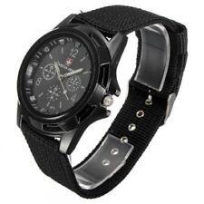 Reloj Deportivo vendedor Reino Unido Hombres a Cuarzo Militar Ejército De Tela Bandera De Suiza Gemius Negro!!!!!!