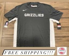 Nike NBA Memphis Grizzlies Team Issue Dri-FIT S/S Shooting Shirt Mens Sz LT NWT
