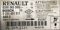 Calculateur d'air bag Bosch Renault Clio 3 8200563369 0285001511