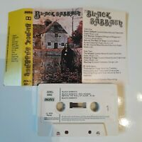 BLACK SABBATH S/T SELF TITLED CASSETTE TAPE 1976 WHITE PAPER LABEL NEMS UK