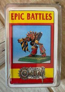 Games Workshop - Epic Battles - Citadel Combat Cards - 35 Playing Cards - VGC