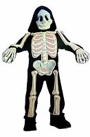 Toddler's 3T to 4T Pink Skeleton Halloween Costume NEW Cute 3D Jumpsuit Girls