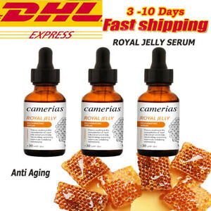 3 x Royal Jelly Serum Rejuvenation Bright Skin Care Anti Aging Wrinkles 30 ML.
