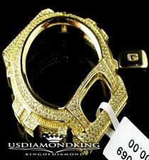 MENS WOMEN CUSTOM G-SHOCK BEZEL 14K YELLOW GOLD CANARY DIAMOND SIMULATED WD 6900
