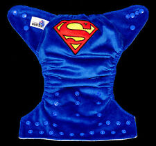 Modern Reusable Washable Baby Cloth Nappy Nappies & Insert, embroidered superman