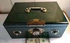 Vintage Alps Combination 2900 green Cash Box High Class Safe Rare works!