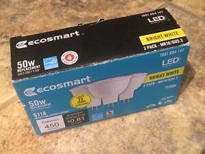 EcoSmart 50-Watt Equivalent MR16 Dimmable LED Light Bulb Bright White (3-Pack)