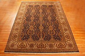 Oriental Black Hand Knotted Area Rug Wool Traditional 'Hudai' Handmade 9x12 Rugs