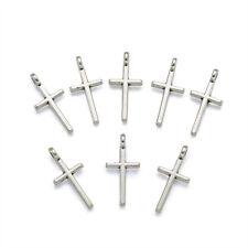 Free 100PCS Tibetan Silver Cross Charms pendentif pour bijoux bracelet 18x9mm