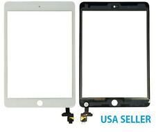 White Touch Glass Digitizer Screen + IC Connector For iPad Mini 3 III 3rd Gen