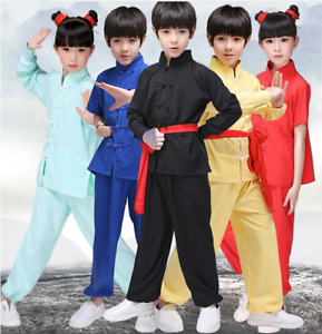 Chinese martial arts children's Changquan Taiji Kungfu performance clothes