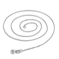 925 Sterling Silver Cross Chain Necklace 18 Inches Choker Jewelry For Woman Girl