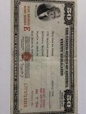 1944 Series E $50 War Bond