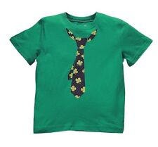 Jumping Bean Boy's Size 2T Green Tie Print Four Leaf Clover T-Shirt NEW SOILED