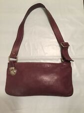 Marc Jacobs Small Brown Leather Clutch/shoulder Bag / Evening Made In Italy!