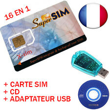 Super sim card virgin + player-recorder sim backup clone telephone