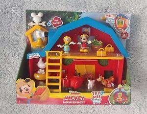 Disney Junior Mickey Mouse Barnyard Fun Playset Kid Toy Farm Barn Donald Duck NW