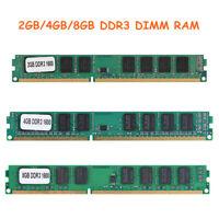 RAM 8GB 4GB 2GB DDR3 1600MHZ PC3-12800 12800U 240PIN Desktop Memory NON-ECC Lot