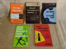 Vintage Electronics Books - Basic, Dictionary, Data, Solid State, Transistor