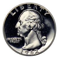 1962 Washington Quarter Proof 90% Silver Gem Brilliiant US Coin