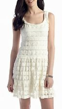 Sophie Max Studio Felice Ivory Sleeveless Dotted Stretch Lace Dress - MSRP $98