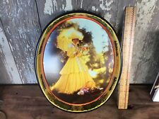 Vintage Budweiser Beer Tray, Southern Belle In Yellow Dress