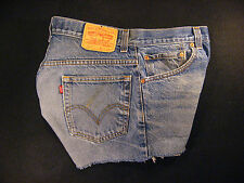 LEVIS 517 CUTOFF JEANS SHORTS Cut Off W 34 MEASURED Daisy Dukes HIGH WAISTED