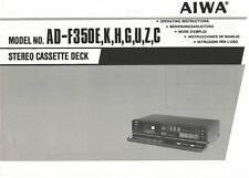 AIWA AD-F350 AD F 350 - USER OWNER'S MANUAL - Languages: EN DE FR ES IT -