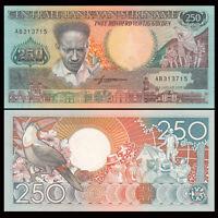Suriname 250 Gulden, 1988, P-134, UNC