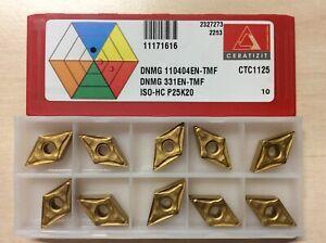 DNMG 110404EN-TMF 10 Inserts Ceratizit CTC1125 Insert Tip Tips Bnib Invoice WNT