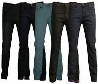 Men's Boys Slim Fit Stretch Jeans Denim Fly Zip Classic Trouser Pants Size 30-38