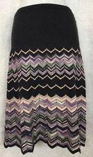 Missoni Skirt Multicolored Stripe Knit Scalloped Bottom Size 40
