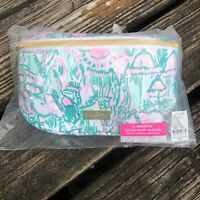 Lilly Pulitzer Fanny Pack Waist Belt Bag Pink Agate Green Camelflage Purse NWT