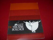PROGRAMME  THEATRE    DE L'0PERA DE PARIS   BALLET DU THEATRE BOLCHOI  1977
